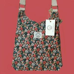 TwintreeLane Luna City FLORAL Crossbody Bag NWT!